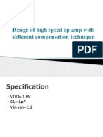 Design of High Speed Op Amp With Different