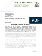 KMC Letter Re 2007 Oil Spill Post-Mortem