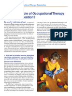 Occupational Therapy intervention paediatrics