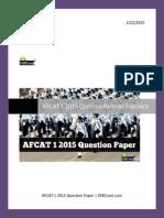 Afcat Exam Paper 2015