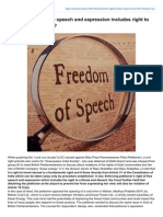 Whether right to free speech and expression includes right to criticize and dissent? - See more at: