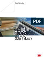 3M™ Tapes for Solar Panel Fabrication