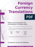 Foreign Currency Translations