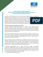 ESSILOR Press Release Crizal Prevencia 28022013
