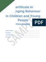 Challenging Behaviour CYP Sample