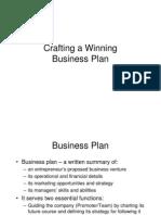 Crafting a winning Business Plan