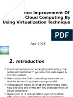 Performance Improvement Of IaaS Type Cloud Computing By Using Virtualization Technique