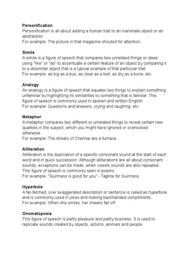 Figure Of Speech Sentence Linguistics Idiom