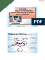 Técnicas e Instrumentos Cuantitativos )