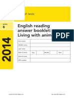 Ks2 English 2014 Level 6 Reading Answer Booklet