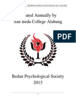 The Bedan Journal of Psychology 2015 Volume I