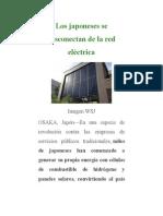 Los Japoneses Se Desconectan de La Red Eléctrica