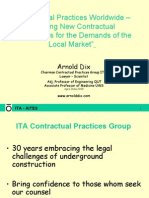 Contractual Practices Worldwide  - Tailoring New Contractual Frameworks for the demand of the local market