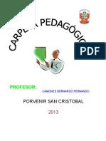 CARPETA PEDAGÓGICA (I.E. N° 33223 PORVENIR - SAN CRISTOBAL)