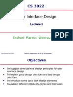 Lecture 9 - UI Design