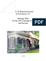 Lock 52 Historical Society Strategic Plan 2015