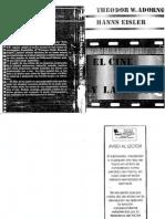 Adorno, Theodor - El Cine Y La Musica