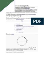 Teorema de La Función Implícita
