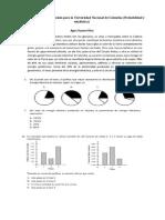 Ejercicios probabilidad y estadística examen de admisión Universidad Nacional de Colombia