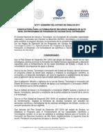 Convocatoria Becas CONACYT-Gob Sinaloa-2015