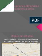 Estudios Para La Optimización Del Transporte Publico