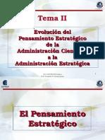 Tema II Evolucion Del Pensamiento Estrategico de La Administracion Cientifica a La Administracion Estrategica Direccion Estrategica