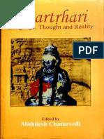 Bhartrhari Language Thought and Reality - Mithilesh Chaturvedi_Part1
