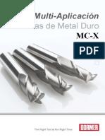 FRESAS DORMER - (de Metal Duro) - Descripcion Tecnica-caracteristicas-cuadro de Avances-Vc - Etc