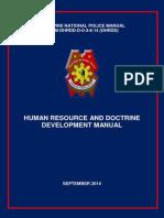 Human Resource and Doctrine Manual Development - Septermber 2014