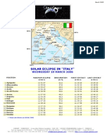 Schedule ITALY