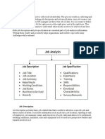 Job Analysis is a Primary Tool to Collect Job