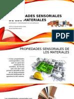 Propiedades Sensoriales de Los Materiales