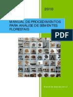 M. de Análise de Sementes florestais
