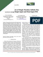 Dynamic Analysis of Single Machine Infinite Bus System(ModelamentoEspacoEstados)