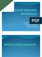 Patologia Neonatal Metabolica