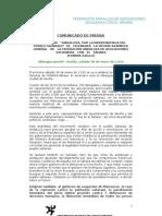 Comunicado de Prensa- Asamblea General FANDAS 2010