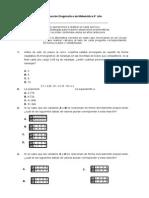Diagnóstica de Matemática 8