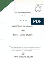 1967 JGC Inspection Procedure for Tank Level Gauges