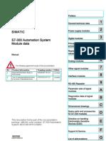 Simatic s7-300 s7-300 Module Data
