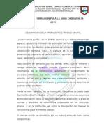 Propuesta de CONVIVENCIA 2015