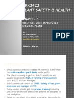 Chap 6 - Plant safety and health