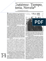 Ensayo Miguel Gutic3a9rrez Tiempo Historia Novela Hildebrando Pc3a9rez Grande