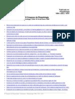 Actas Congreso de Fitopatologia