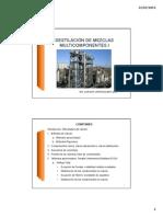 Destilación de Mezclas Multicomponentes