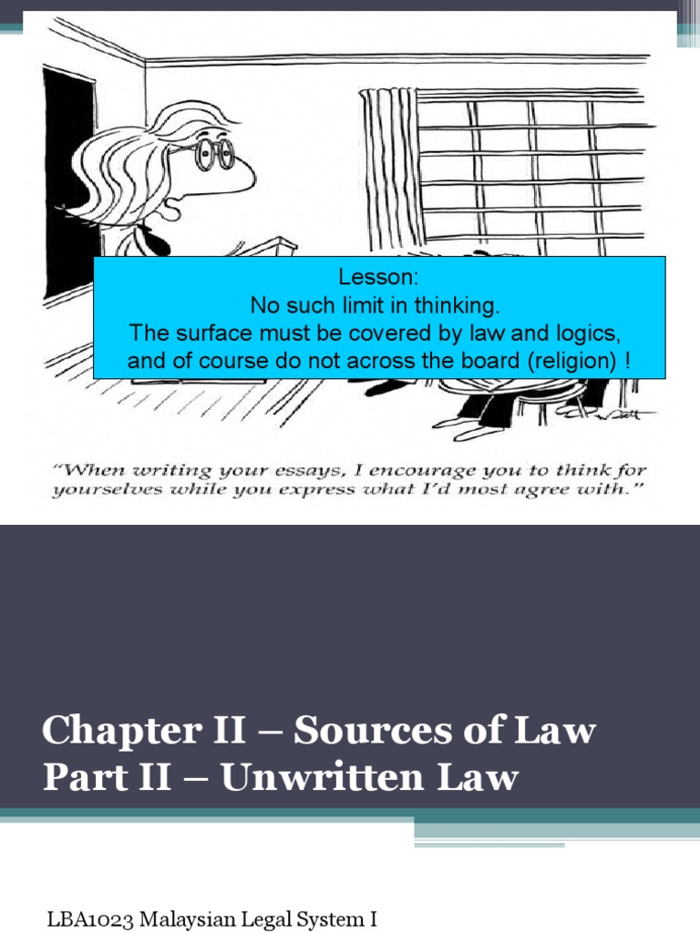definition of unwritten law
