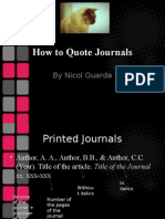 How to Quote Journals.ppt