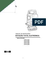 05 Estacao Total Topcon Gts 220 Original