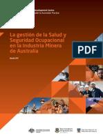 La Gestion de La Salud y Seguridad Ocupacional de La Actividad Minera en Australia