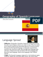 geography of spanish language