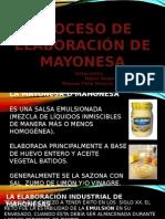 elaboracion de mayonesa